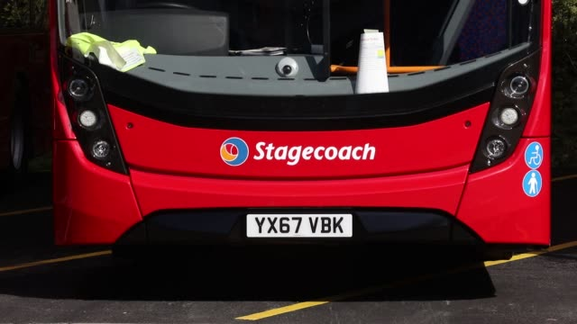 completed enviro 400 london buses stand outside the alexander dennis ltd factory in scarborough uk on wednesday sept 13 photographer chris... - scarborough uk stock videos & royalty-free footage