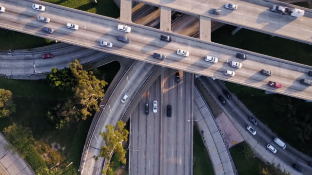 Complex Freeway Interchange from Above