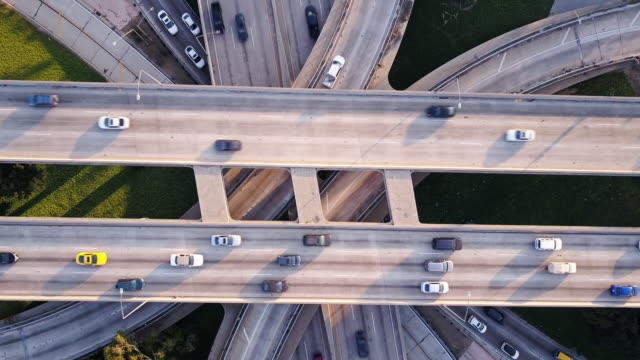 complex freeway web - zoom out stock videos & royalty-free footage