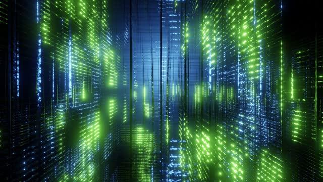 vidéos et rushes de complex glowing structure - big data