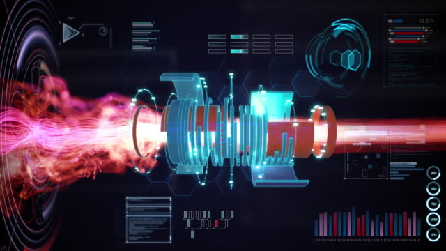 complex plasma motion graphics - motore video stock e b–roll
