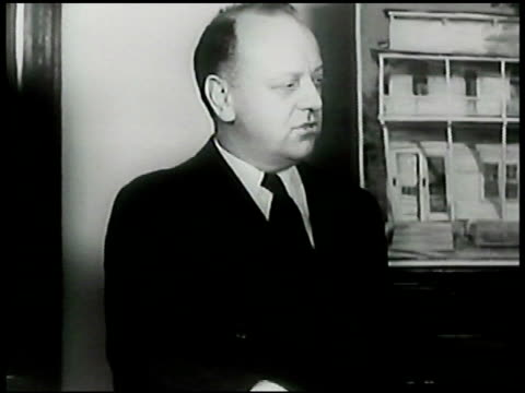 composer critic virgil thompson standing. composer samuel barber in soldier's uniform & composer william schumann sitting in chairs. wwii - critic stock videos & royalty-free footage