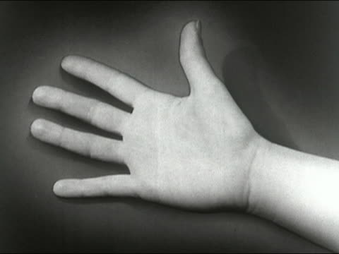 vidéos et rushes de 1955 composite close up grey splotches growing on hand to indicate germs or disease / audio - personne non reconnaissable