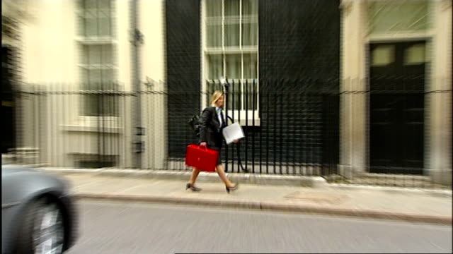 george osborne announces spending plans cabinet arrivals england london downing street ext cabinet arrivals at number 10 including dominic grieve mp... - sir george young politician stock videos and b-roll footage