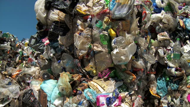 hd: compressed garbage - landfill stock videos & royalty-free footage
