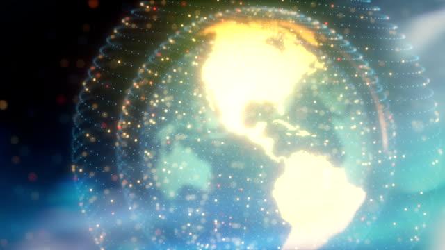 vídeos y material grabado en eventos de stock de comptuer generated earth globe rotating - looped animation - comunidad global