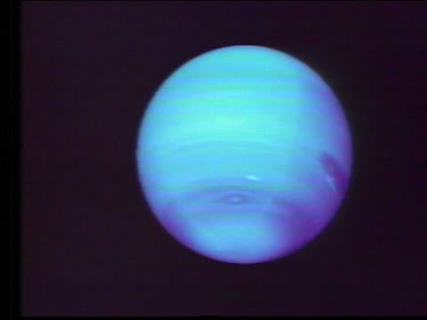 Computer animated spinning Neptune (graphics at start)