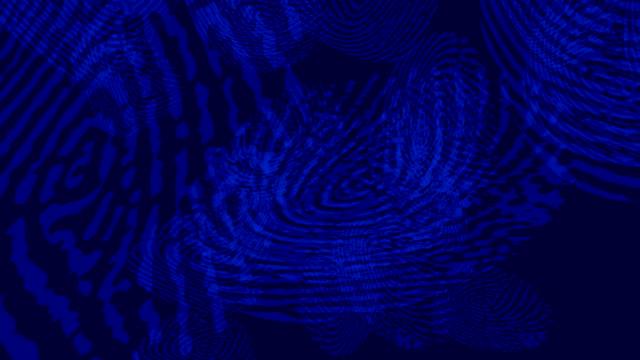 computer animation of blue fingerprints - fingerprint stock videos & royalty-free footage