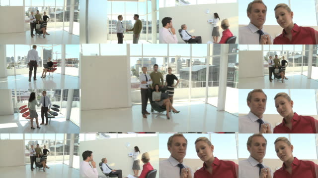 CGI Computer animation of business people