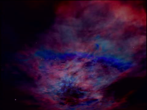 computer animation of dust clouds passing in space - nebula stock videos & royalty-free footage