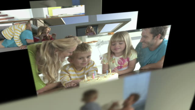 cgi computer animation, of family scenes - schwester stock-videos und b-roll-filmmaterial