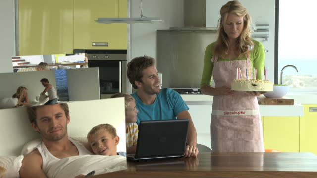 cgi computer animation, of family scenes - sister stock videos and b-roll footage