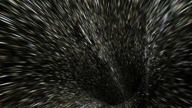 computer animation of fast travel through space - velocità video stock e b–roll