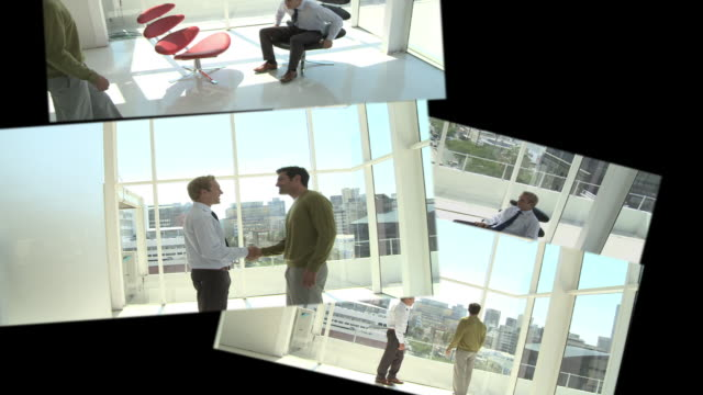 CGI Computer animation, of office scenes