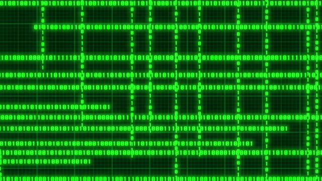 Computer binary code data stream