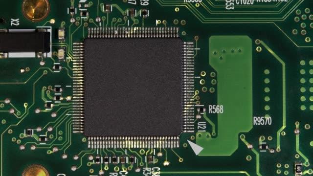 コンピュータチップ - 回路基板点の映像素材/bロール