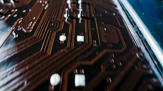 computer circuit board - copper stock videos & royalty-free footage