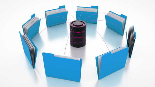 computer database with office document folders - filing documents stock videos and b-roll footage