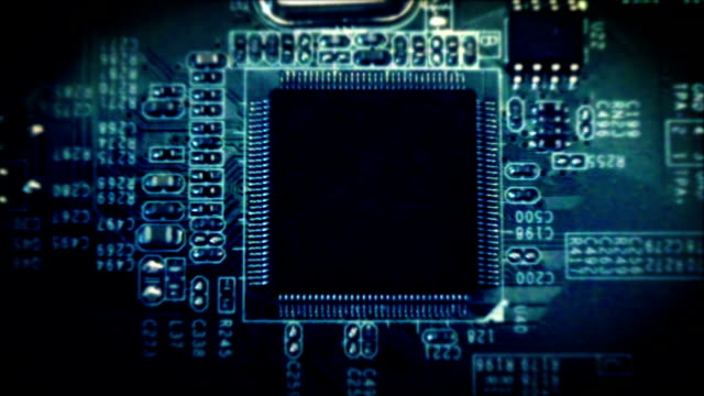 computer electronic circuit board loop - computer chip stock videos & royalty-free footage