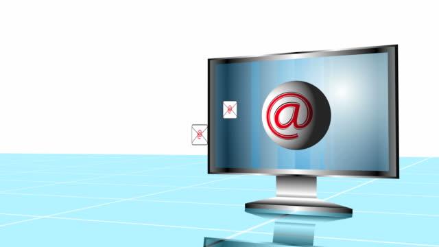 コンピュータの e メール - e mail点の映像素材/bロール