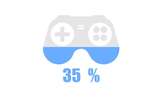 computer gaming inforgraphic design element - design element stock videos & royalty-free footage