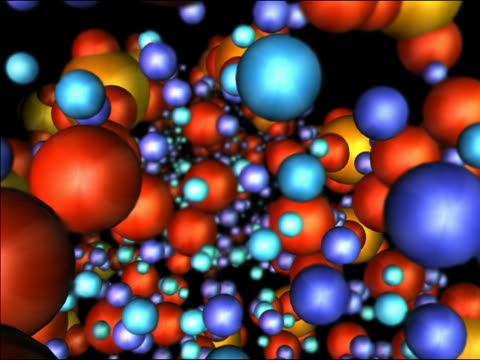 computer generated image colored spheres moving towards cam - 2004 stock videos and b-roll footage