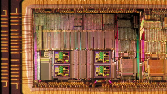 computer generated image extreme close up zoom in circuit board - computer chip stock videos & royalty-free footage