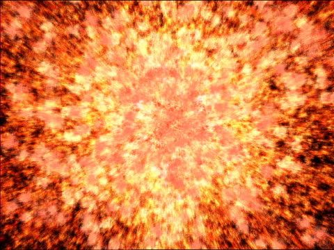 computer generated image fire ball exploding towards camera with black background (super nova) - fireball stock videos & royalty-free footage