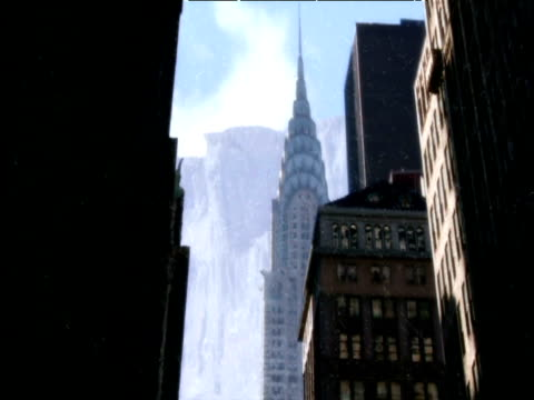 computer generated image of how new york might appear in an ice age - new age stock videos & royalty-free footage