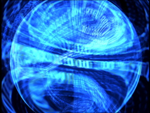 computer generated image rows of blue binary numbers floating and revolving around each other with black background - blue peter stock videos and b-roll footage