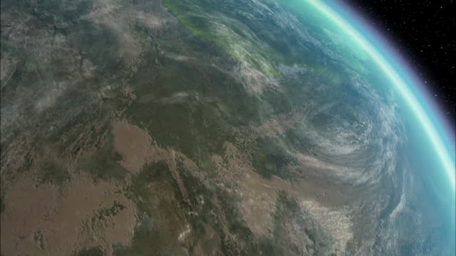 a computer generated image shows earth before the tectonic plates shifted into today's current locations. - pastry dough stock videos & royalty-free footage