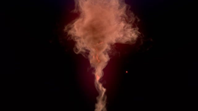 computer generated vortex like magic explosion with glowing sparks and dark smoke. 3d rendering. 4k, ultra hd resolution. - sparks stock videos & royalty-free footage