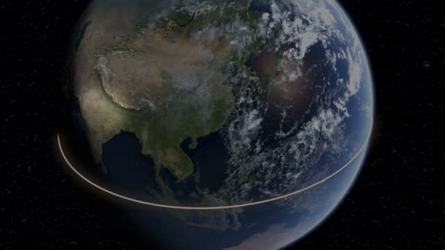 computer graphic of the earth with major desert regions highlighted in comparison to the equator - continente area geografica video stock e b–roll