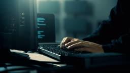 Computer Hacker Late Night Server Room