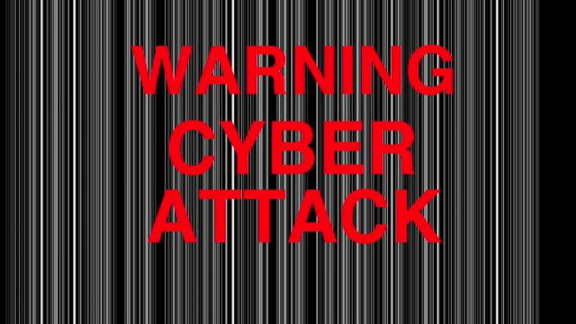 Computer internet cyber attack