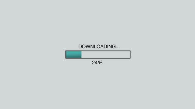 vídeos y material grabado en eventos de stock de computer / internet downloading bar animation graphic - loading