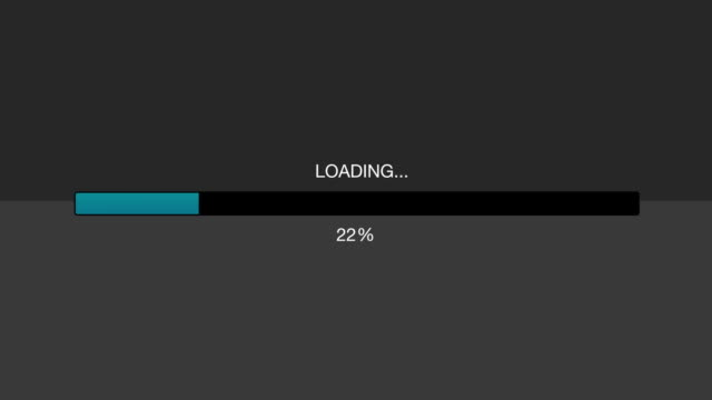 computer / internet loading bar animation graphic 2 - loading screen stock videos & royalty-free footage