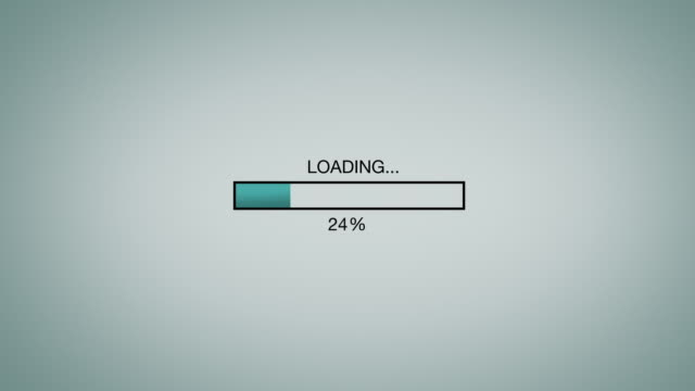 computer / internet loading bar animation graphic - beladen stock-videos und b-roll-filmmaterial