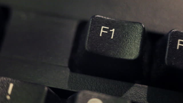 computer key: f1 - computer key stock videos and b-roll footage