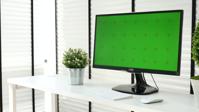 Computer Monitor with Chroma key, NO people