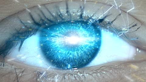 computer network in eye. travelling informations - inspiration bildbanksvideor och videomaterial från bakom kulisserna