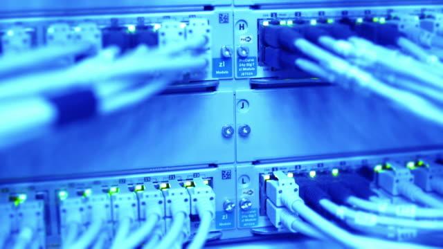 Computer Network Server Operating Close-up (4K/UHD)