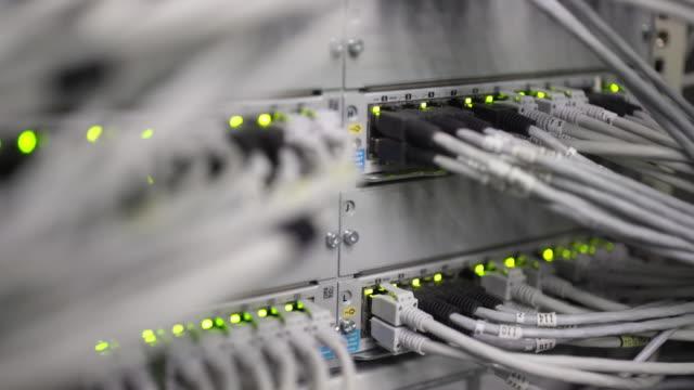 Commutateur de réseau d'ordinateur avec clignotant feux Rack Focus