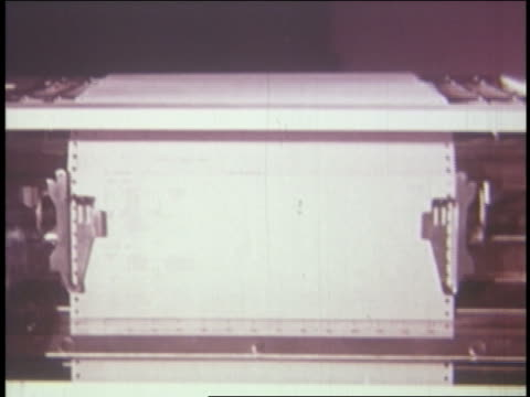 1962 computer paper printing out - printout stock videos & royalty-free footage