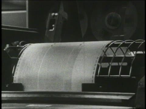 b/w 1965 computer printer - printout stock videos & royalty-free footage