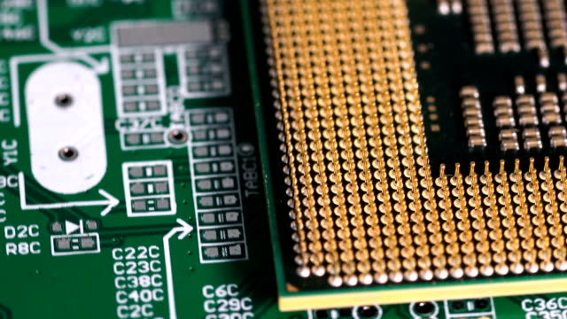 cpu computer processor - circuit board stock videos & royalty-free footage