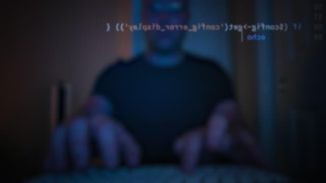 コンピュータープログラミングコード - ハッカー点の映像素材/bロール