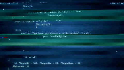 computer-bildschirm-code - glitch-effekt | 4k - code stock-videos und b-roll-filmmaterial