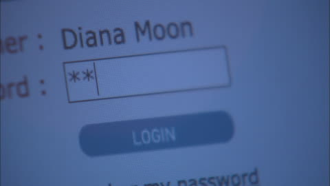 a computer screen displaying the login for an online banking website. - password stock videos & royalty-free footage