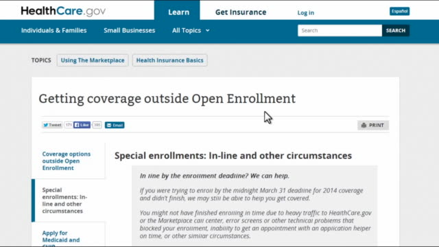 computer screen video of online application process of the affordable care act showing how to get coverage outside of open enrollment period - open enrollment stock videos & royalty-free footage